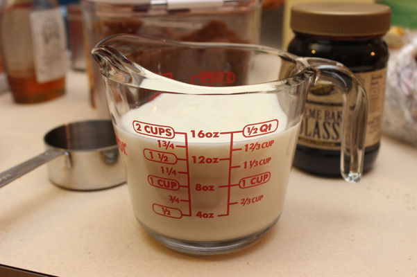 buttermilk in measuring cup
