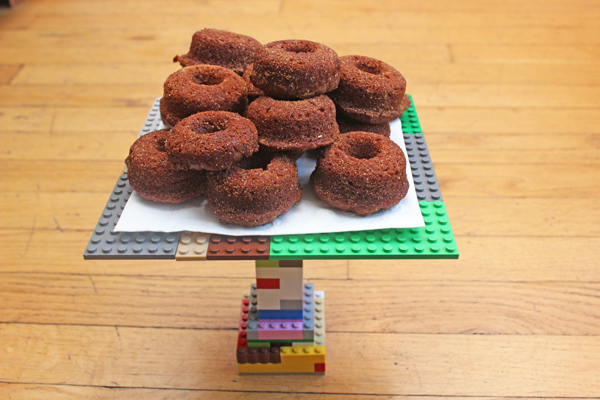 donuts on Lego platform